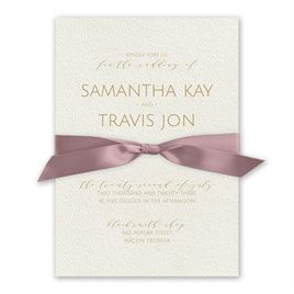 Modern Elegance - Rose - Ecru  Invitation