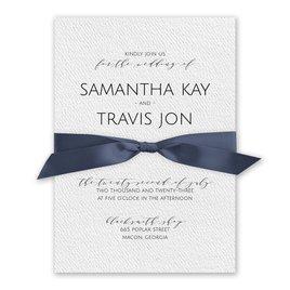 Modern Elegance - Steel Blue - White Invitation