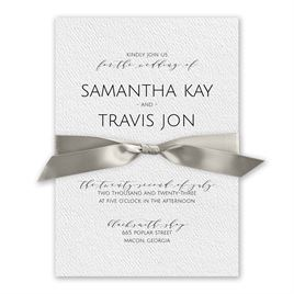 Modern Elegance White Invitation