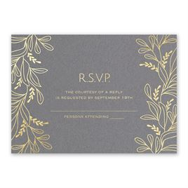 Botanical Brilliance - Gold - Foil Response Card