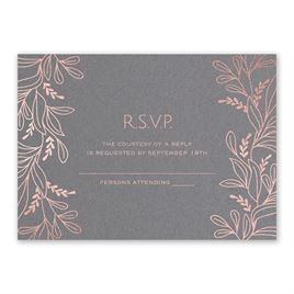 Botanical Brilliance - Rose Gold - Foil Response Card