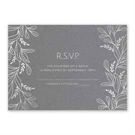 Botanical Brilliance -Silver - Foil Response Card
