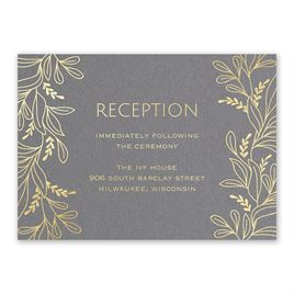 Botanical Brilliance - Gold - Foil Reception Card
