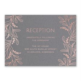 Botanical Brilliance - Rose Gold - Foil Reception Card