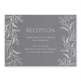 Botanical Brilliance - Silver- Foil Reception Card