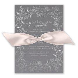 Botanical Brilliance - Silver - Foil Invitation