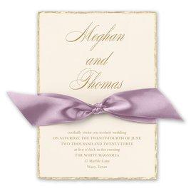 Adorned Deckle - Hydrangea - Invitation
