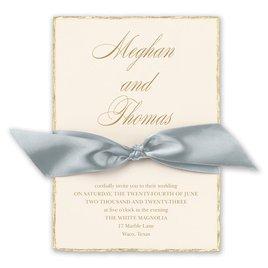 Adorned Deckle - Mist - Invitation