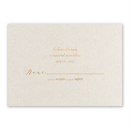 Wedding Response Cards: Wrapped in Beauty - Foil Response Card