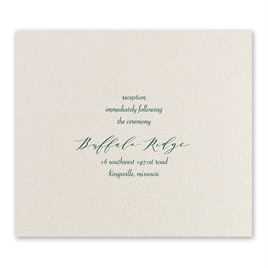 Wrapped in Beauty - Hunter - Foil Reception Card
