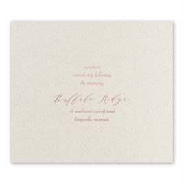 Wrapped in Beauty - Rose Gold - Foil Reception Card