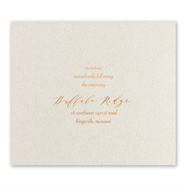 Wedding Reception and Information Cards: Wrapped in Beauty - Foil Reception Card