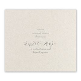 Wrapped in Beauty - Silver - Foil Reception Card