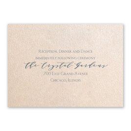 Blossoming - Blush Shimmer - Reception Card