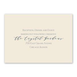 Blossoming - Ecru - Reception Card