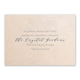 Wedding Reception and Information Cards: Blossoming - Reception Card