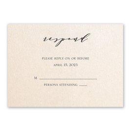 Refined - Blush Shimmer - Response Card