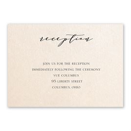 Refined - Blush Shimmer - Reception Card