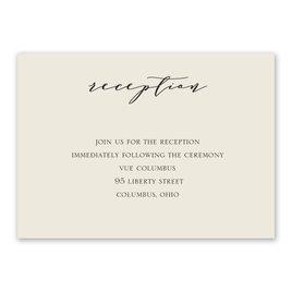 Refined - Ecru - Reception Card