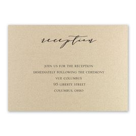 Refined - Gold Shimmer - Reception Card