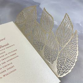 Luxe Leaves - Laser Cut Invitation