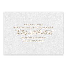 Regal Damask - White Shimmer - Reception Card