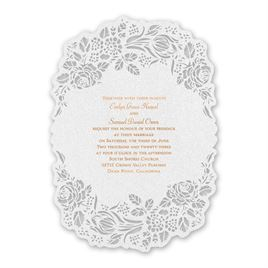 Blooming Beauty - Copper - Laser Cut Invitation