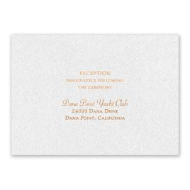 Blooming Beauty - Copper - Foil Reception Card