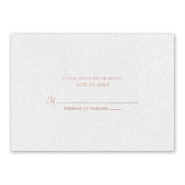 Wedding Response Cards: Blooming Beauty - Foil Response Card
