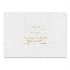 Blooming Beauty - Gold - Foil Reception Card