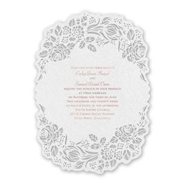 Blooming Beauty - Rose Gold - Laser Cut Invitation