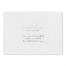 Blooming Beauty - Silver - Foil Reception Card