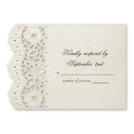 Wedding Response Cards: Fancy Frills Laser Cut Response Card