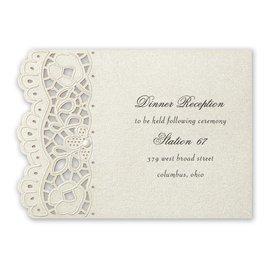 Wedding Reception and Information Cards: Fancy Frills Laser Cut Reception Card