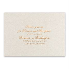Majestic - Copper - Foil Reception Card