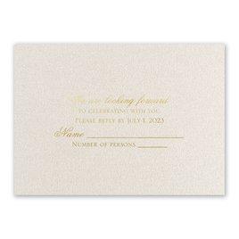 Wedding Response Cards: Majestic - Foil Response Card