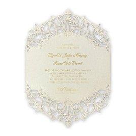 Majestic - Gold - Laser Cut Invitation