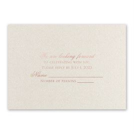 Majestic - Rose Gold - Foil Response Card
