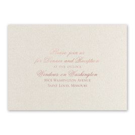 Majestic - Rose Gold - Foil Reception Card