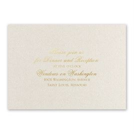 Wedding Reception and Information Cards: Majestic - Foil Reception Card