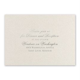 Majestic - Silver - Foil Reception Card