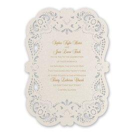 Classically Chic - Laser Cut Invitation