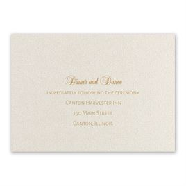 Wedding Reception and Information Cards: Classically Chic Reception Card