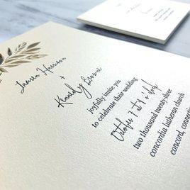 Delicate Greens - Laser Cut Invitation