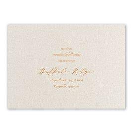 Natural Beauty - Copper - Foil Reception Card
