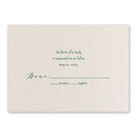 Wedding Response Cards: Natural Beauty - Foil Response Card