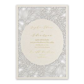 Natural Beauty - Gold - Laser Cut Invitation