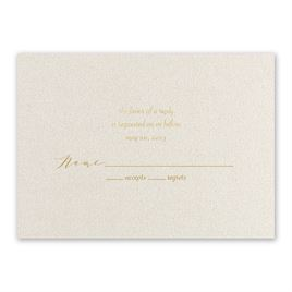 Natural Beauty - Gold - Foil Response Card
