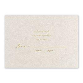 Natural Beauty - Gold - Foil Response Card