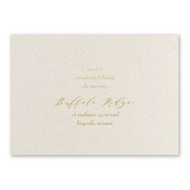 Natural Beauty - Gold - Foil Reception Card